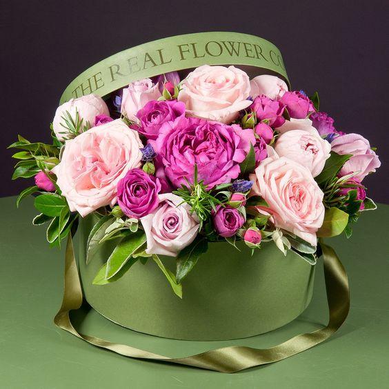 С днём рождения картинки девушке цветы в коробке